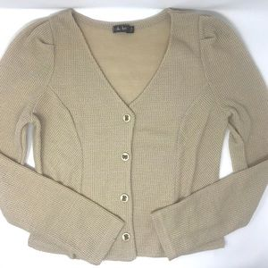 Beige Cable/Knitted Blazer